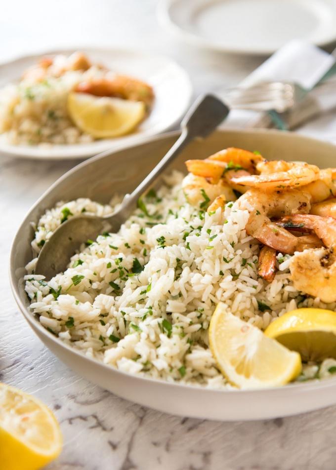Lemon Brown Rice Pilaf
