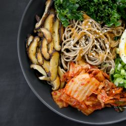 Soba Noodles with Kimchi