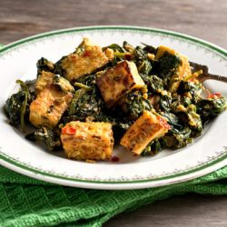 Spinach Saag with Golden Tofu