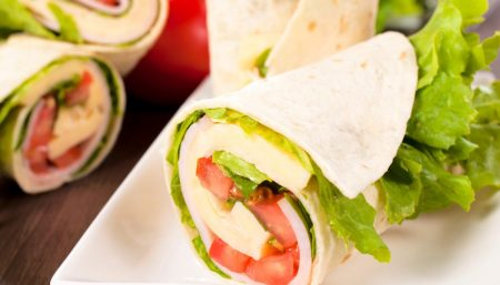 Turkey, Spinach, Apple Wrap