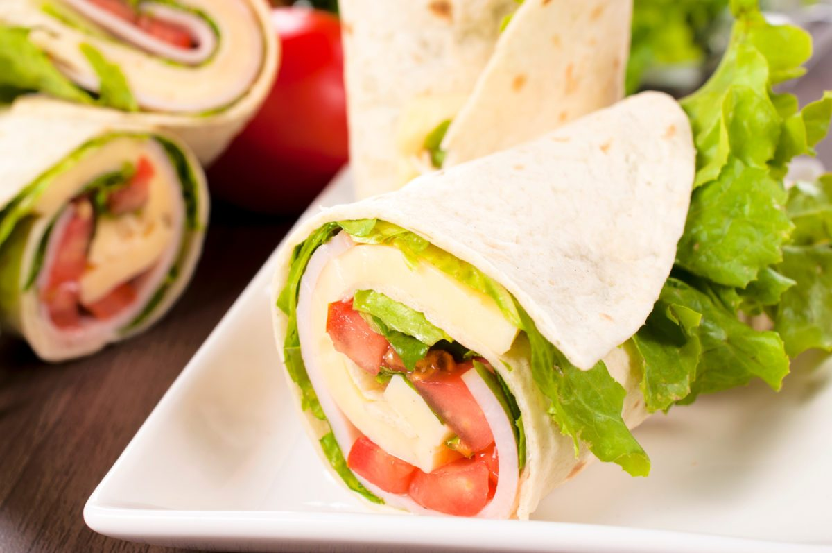 Turkey, Spinach, Apple Wrap