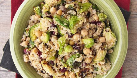 Warm Quinoa and Walnut Salad