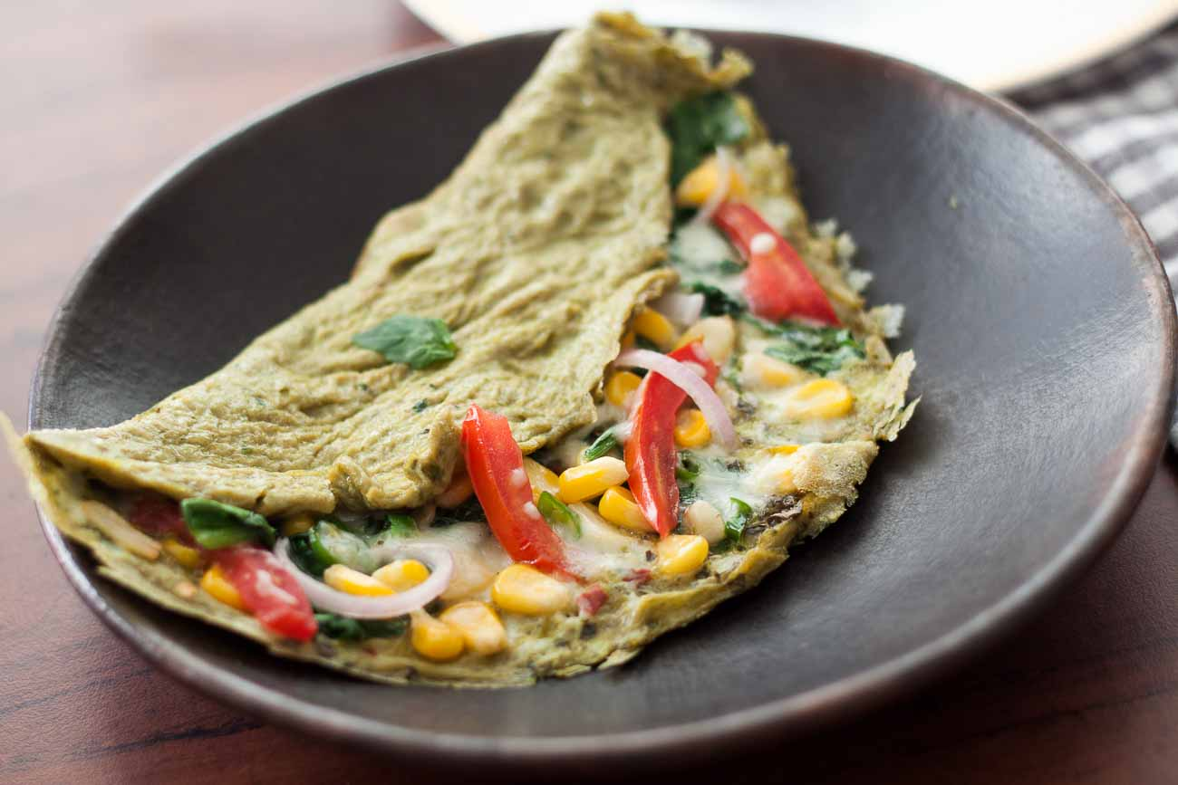 French-style Spinach and Cheese Omelette