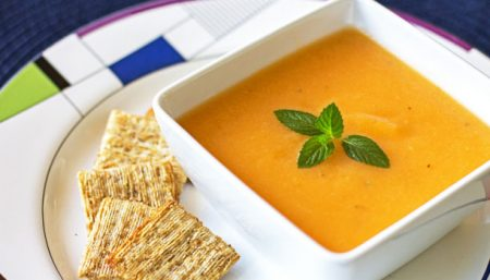 Chilled Cantaloupe Soup with Mint