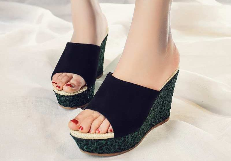 Wedge and flatform Mules