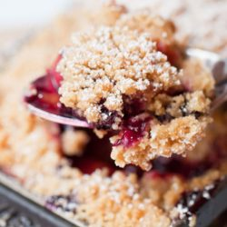 Nectarine and Raspberry Cobbler