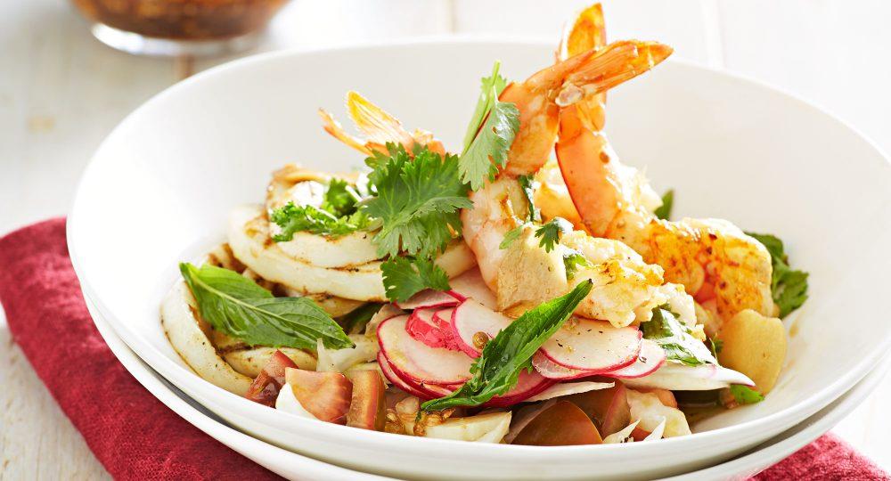 Prawn and Calamari salad