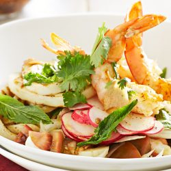 Prawn and Calamari salad