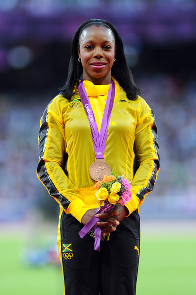 Veronica Campbell-Brown, youngest Jamaican woman to win an Olympic medal.