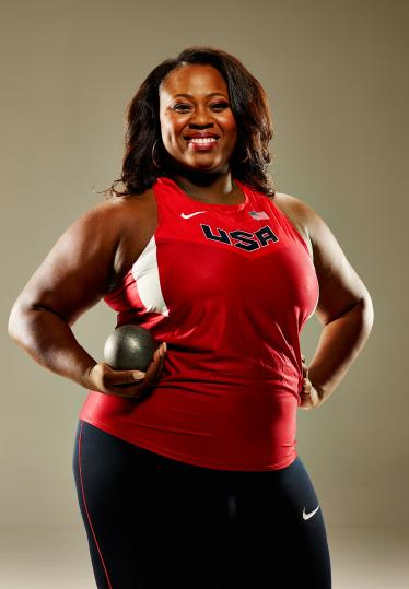Michelle Carter, a highly accomplished American shot putter.