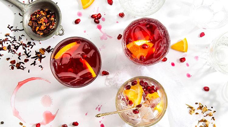 Winter Orange Pomegranate Iced Tea