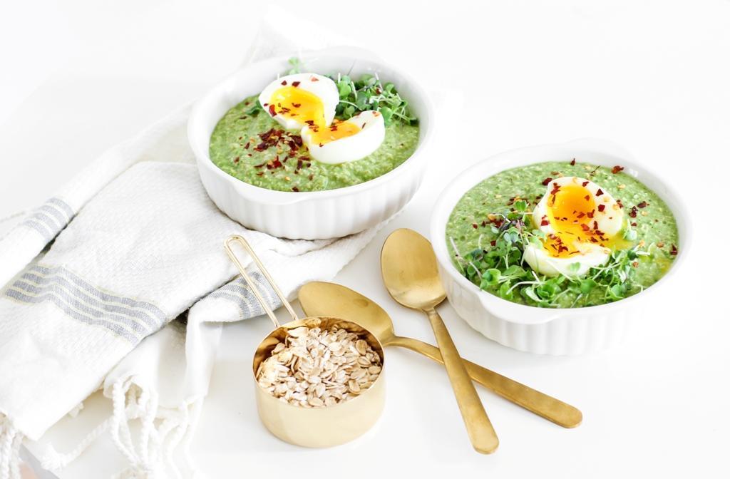 Savory Green Oatmeal