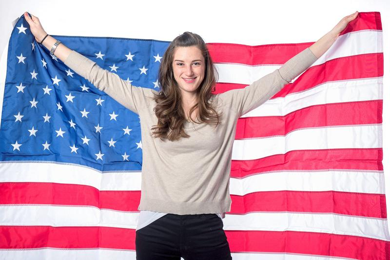 Ms. Katherine Reutter-Adamek U.S. short-track speed skater