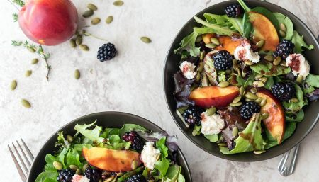 Baby Greens with Blackberry Vinaigrette