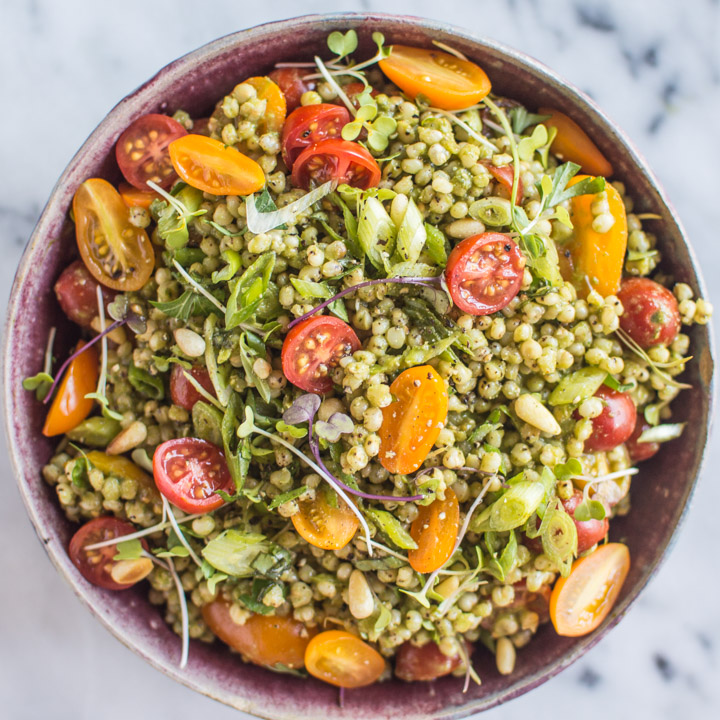 Mediterranean White Bean Sorghum Salad
