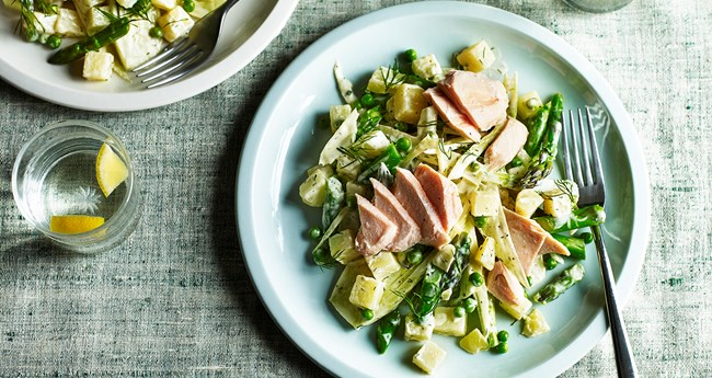 Roasted Salmon Potato Salad