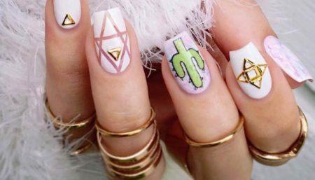 summer festive nails