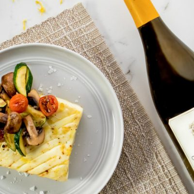 Sheet Pan Alaska Halibut with Zucchini, Mushrooms and Tomato