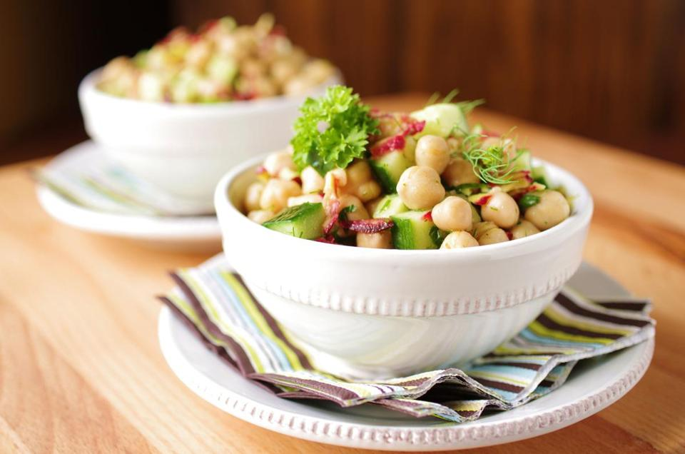 Chickpea, Cucumber and Dill Salad