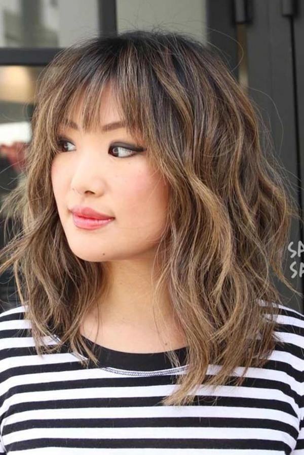 Free Flowing Curls with bang