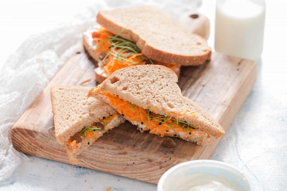 Carrot & Raisins Sandwich