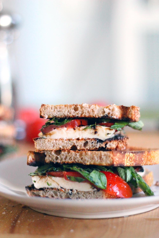 Fresh Mozzarella, Tomato, and Basil Sandwich