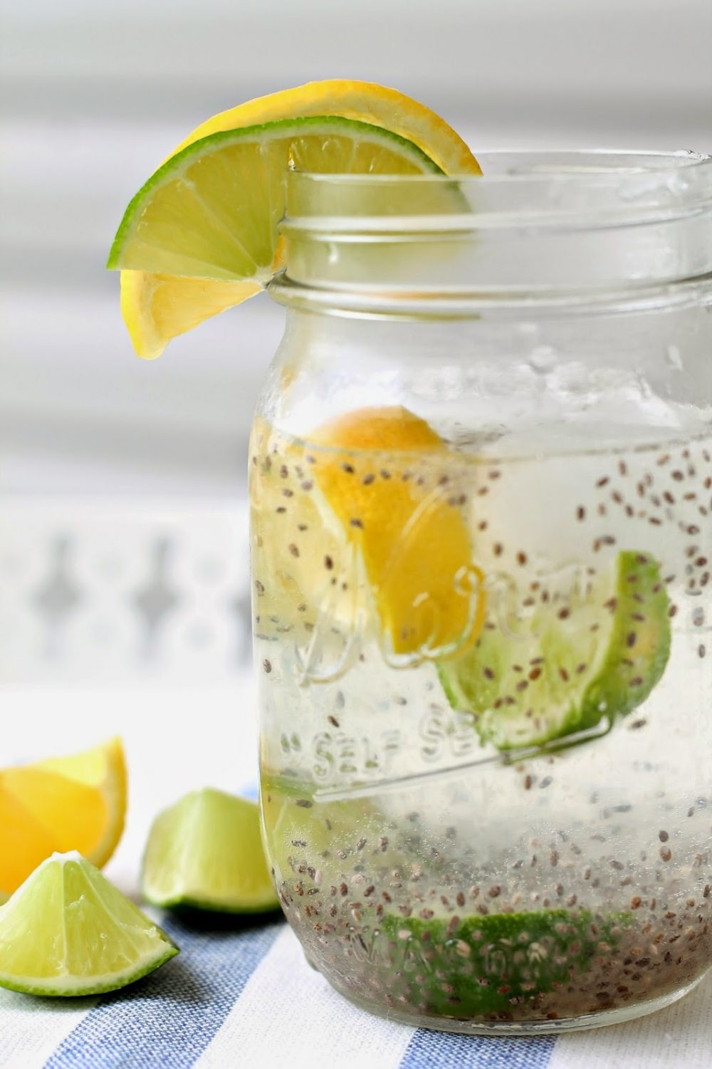 Cucumber Lime and Chia Fresca