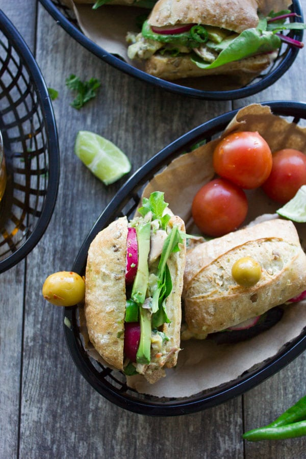 Spicy Chunky Tuna Sandwich