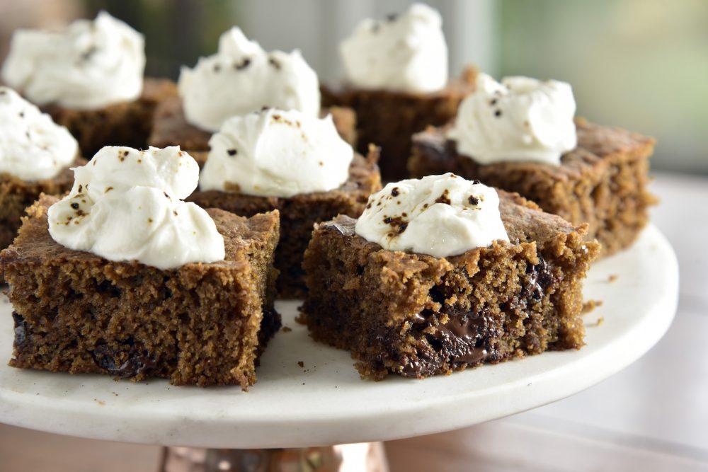 Gâteau espresso aux amandes au chocolat &quot;width =&quot; 1000 &quot;height =&quot; 667 &quot;/&gt;</p><ul><li>2 tasses de farine d&#39;amande</li><li>½ c. bicarbonate de soude</li><li>1 c. sel de mer fin</li><li>2 c. granules expresso instantanés</li><li>3 oeufs</li><li>½ <span class=