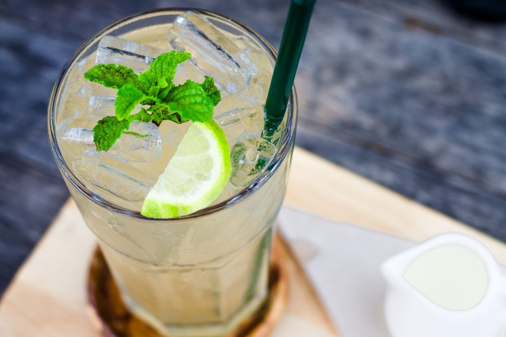 Coconut, Cucumber, Lime, and Mint Cooler