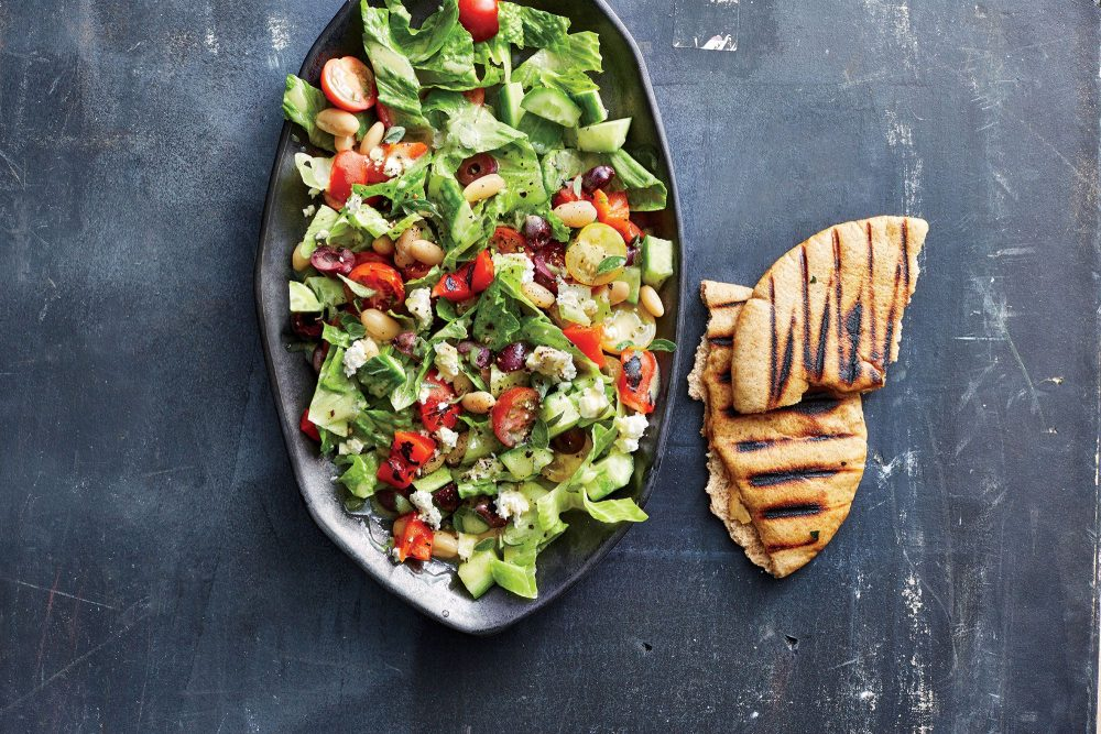Greek Chopped Pita Salad