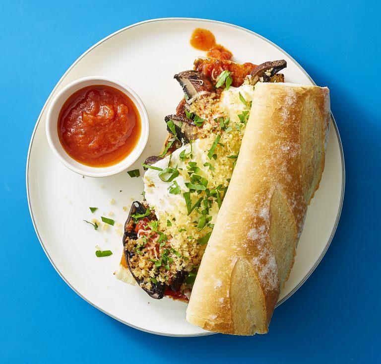 Roasted Mushroom Parmesan Sandwich