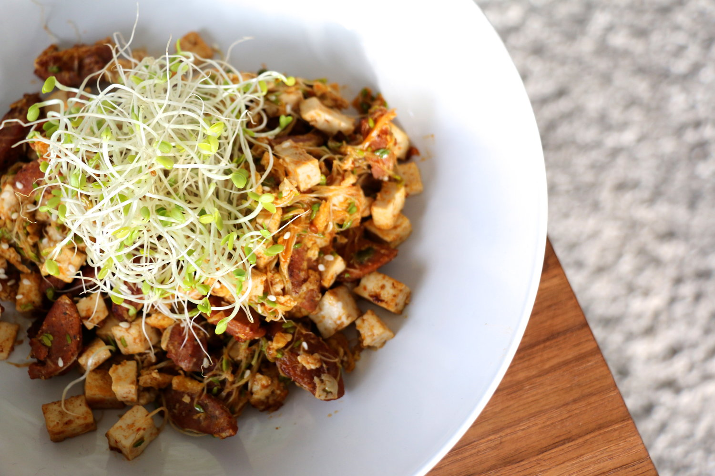 Spicy Tofu Sausage Bowl