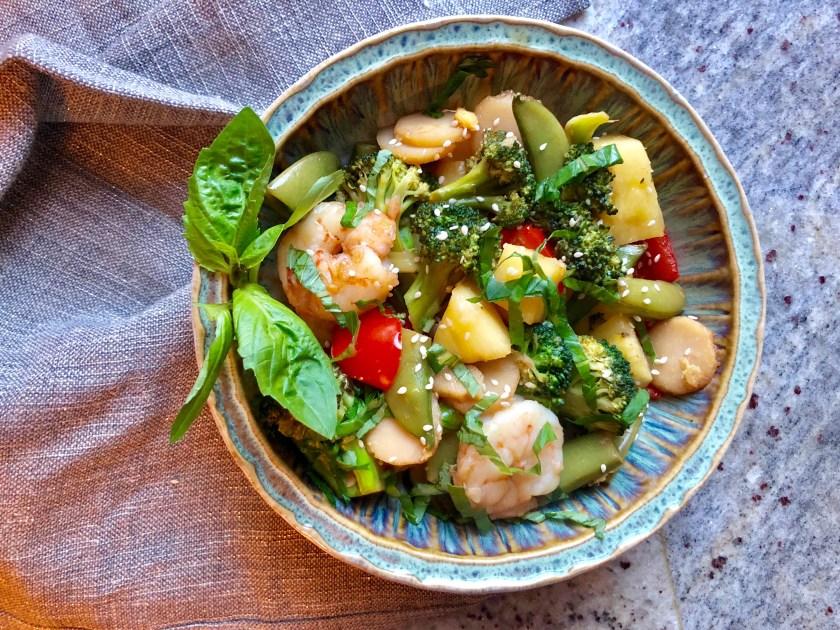 Summer Shrimp and Pineapple Stir-Fry