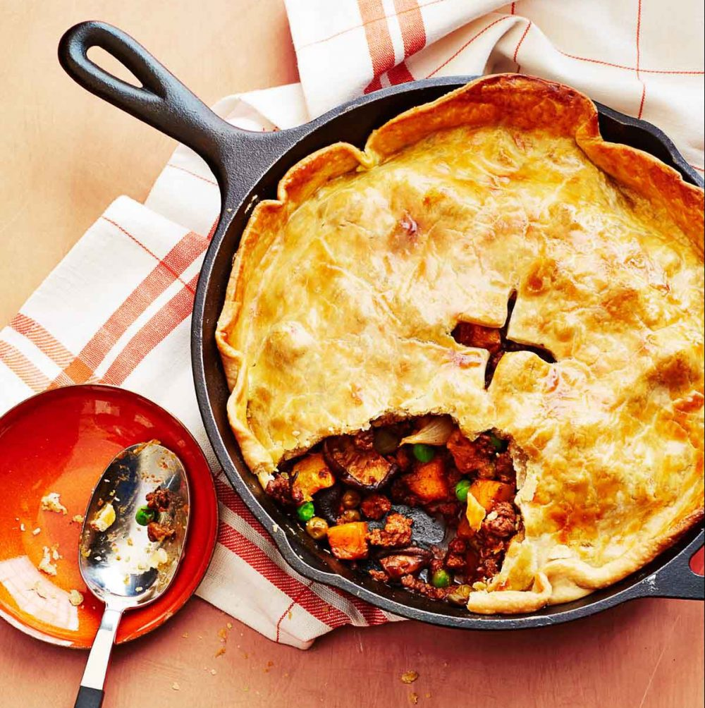 Mushroom Stout Skillet Chicken Pot Pie