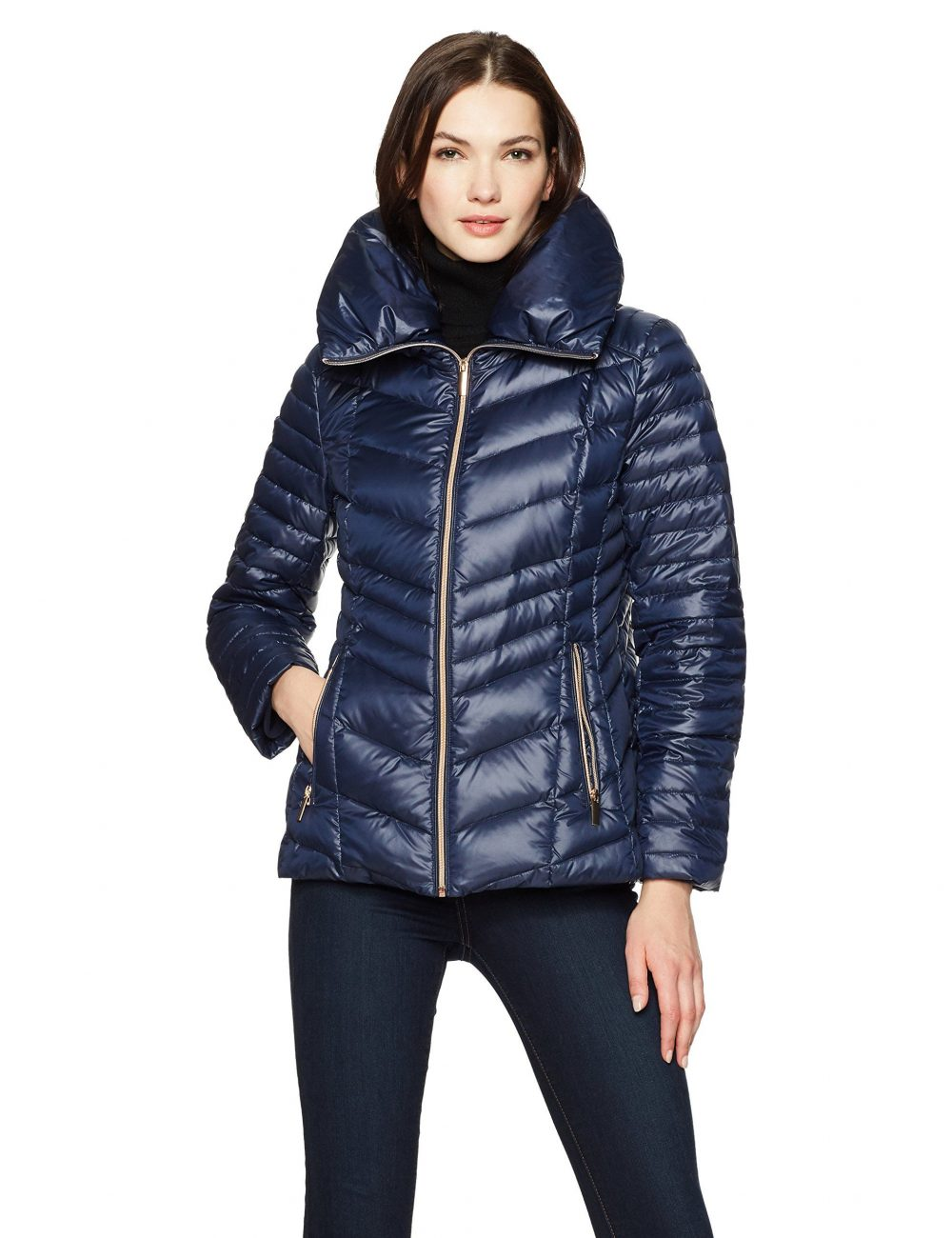 HAVEN OUTERWEAR Women's Pillow Collar Packable Down Puffer Jacket