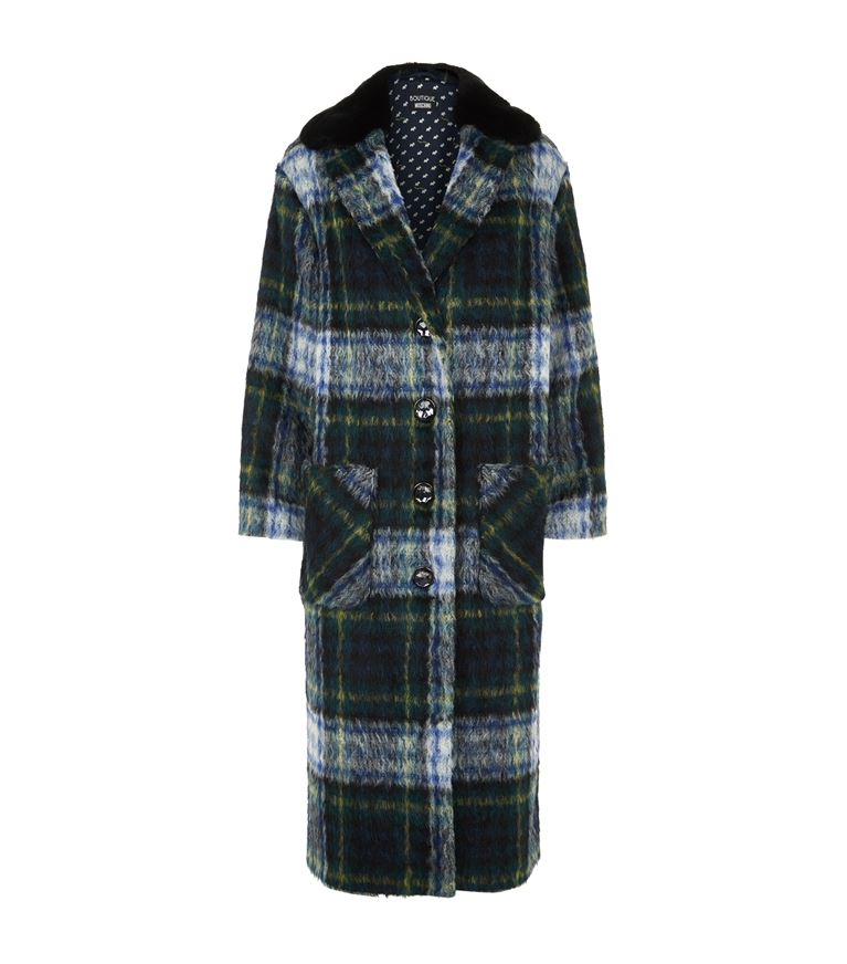 Boutique Moschino Women's Plaid Coat
