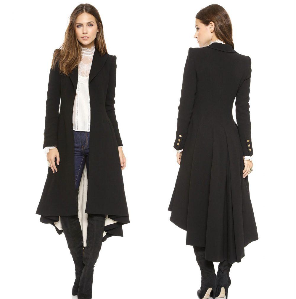 asymmetrical long coat