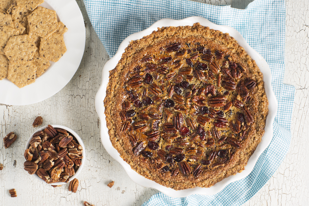 Gluten Free Pecan Cranberry Tart