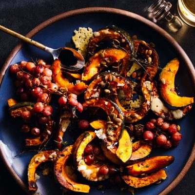 Roasted Kabocha Squash & Grapes