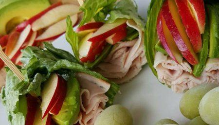 Turkey Apple Wrap with Avocado