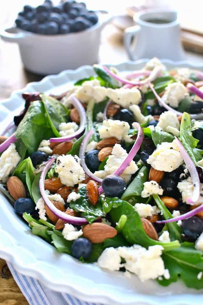 Mixed Greens with Blueberries and Feta