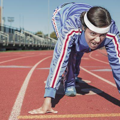 young women's running capacity