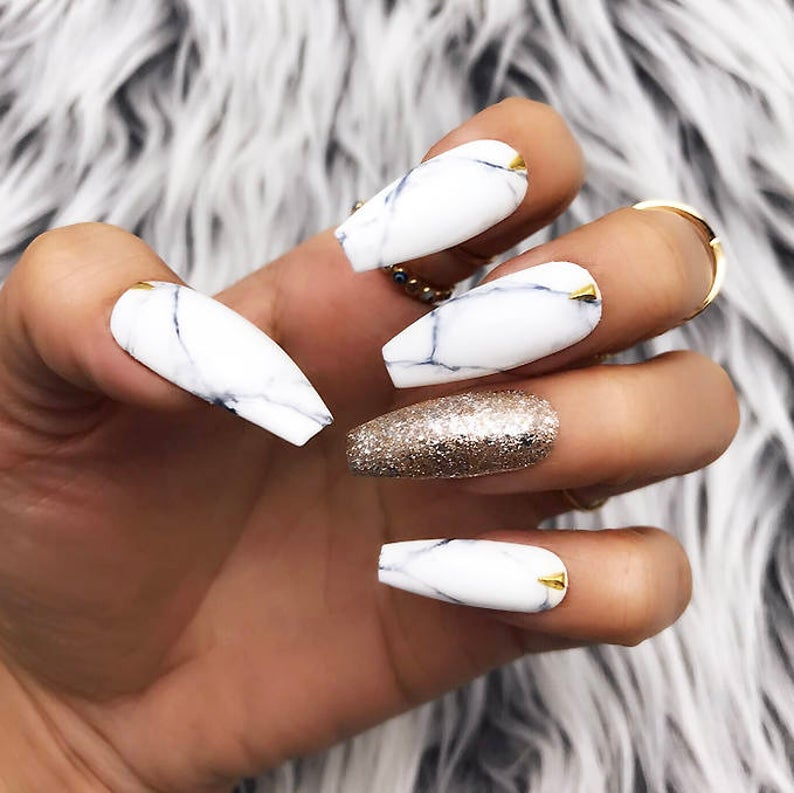 Marble and Gold Leaf