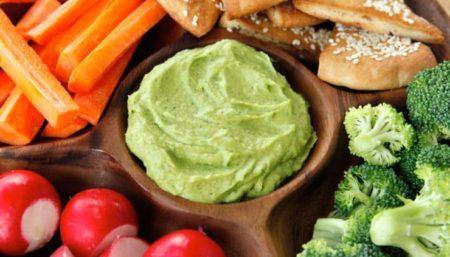 Avocado Cilantro Hummus
