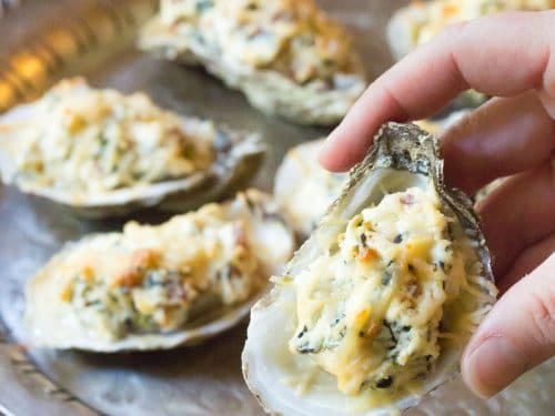 cheese baked oysters
